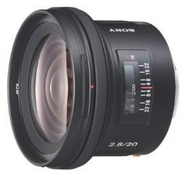 Sony 20 mm F2.8 72 mm filter (geschikt voor Sony A-mount) zwart