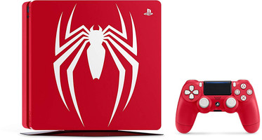 Sony Playstation 4 1 TB [Spider-Man Limited Edition incl. draadloze controller] rood