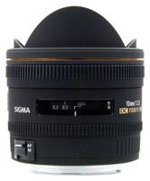 Sigma 10 mm F2.8 DC EX HSM Fisheye (adapté à Canon EF) noir