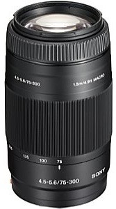 Sony 75-300 mm F4.5-5.6 55 mm Obiettivo (compatible con Sony A-mount) nero