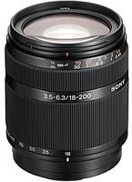 Sony 18-200 mm F3.5-6.3 DT 62 mm filter (geschikt voor Sony A-mount) zwart