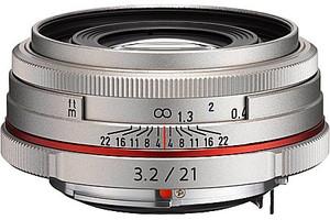 Pentax HD DA 21 mm F3.2 AL 49 mm filter (geschikt voor Pentax K) zilver [Beperkte editie]