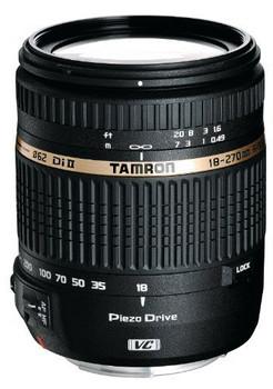 Tamron 18-270 mm F3.5-6.3 Di PZD VC II 62 mm Objectif  (adapté à Canon EF) noir