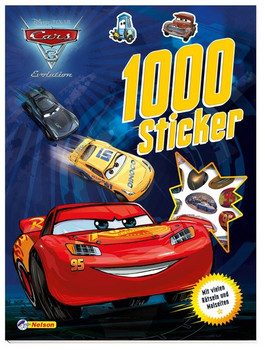 Disney Cars 3: 1000 Sticker. Mit vielen Rätseln und Malseiten [Taschenbuch]