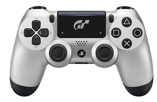 Sony PS4 DualShock 4 Wireless Controller [Limited GT Sport Edition] silber