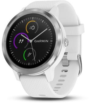 Garmin Vivoactive 3 30,4 mm zilver met siliconen bandje wit