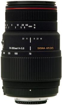 Sigma 70-300 mm F4.0-5.6 APO DG 58 mm Obiettivo (compatible con Canon EF) nero