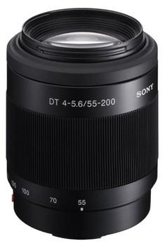 Sony 55-200 mm F4.0-5.6 DT SAM 55 mm Objectif (adapté à Sony A-mount) noir