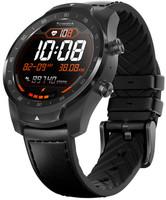 Mobvoi Ticwatch Pro 45 mm shadow black au bracelet en cuir noir  [Wifi]