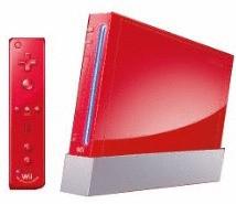 Nintendo Wii [mando incluído, sin juego, compatible con GameCube] rojo