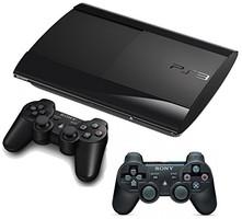 Sony PlayStation 3 super slim 500 GB negro [incluye 2 mandos inalámbricos]