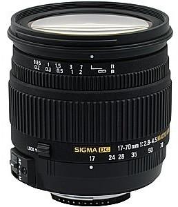 Sigma 17-70 mm F2.8-4.5 DC Macro 72 mm Objectif (adapté à Canon EF) noir