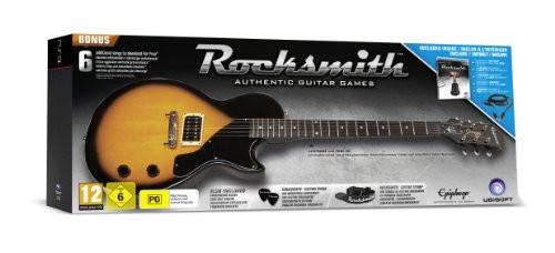 Rocksmith Gitarren Bundle [inkl  Epiphone Les Paul Junior-Gitarre,  Plektren, Gurt und Verbindungskabel]