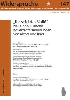 """""""Ihr seid das Volk!"""". Neue populisitische Kollektivanrufungen von rechts und links - 147 Widersprüche  [Taschenbuch]"""