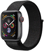 Apple Watch Series 4 40mm caja de aluminio en gris espacial y correa Loop deportiva negra [Wifi + Cellular]