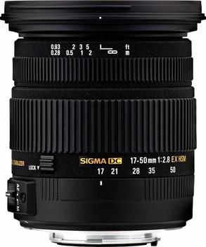 Sigma 17-50 mm F2.8 DC EX HSM OS 77 mm Obiettivo (compatible con Canon EF) nero