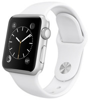 Apple Watch Sport 38 mm zilver met sportbandje wit [wifi]