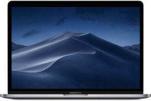 "Apple MacBook Pro met touch bar en touch ID 13.3"" (True Tone retina-display) 2.4 GHz Intel Core i5 8 GB RAM 512 GB SSD [Mid 2019, QWERTY-toetsenbord] spacegrijs"