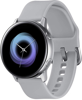 Samsung Galaxy Watch Active 40 mm zilver met sportarmband grijs [wifi]