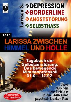 Tagebuch der Selbstzerstörung, das bewegende Minutenprotokoll Teil 1: Larissa zwischen Himmel und Hölle - DEPRESSION - BORDERLINE - ANGSTSTÖRUNG - SELBSTHASS!. 2 Wochen tiefe Einblicke in die Seele einer psychisch kranken Frau - Larissa S.  [Taschenbuch]