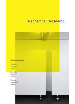 Kunstraum Lakeside. Recherche - Franz Thalmair  [Taschenbuch]