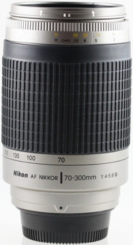 Nikon AF NIKKOR 70-300 mm F4.0-5.6 G 62 mm Obiettivo (compatible con Nikon F) argento