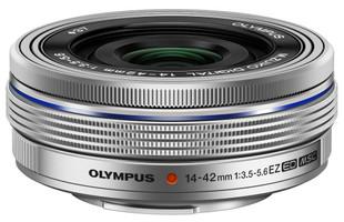 Olympus 14-42 mm F3.5-5.6 ED EZ 37 mm Objetivo (Montura Micro Four Thirds) plata