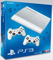 Sony PlayStation 3 super slim 12 GB SSD Blanco [incluye 2 mandos inalámbricos blancos]