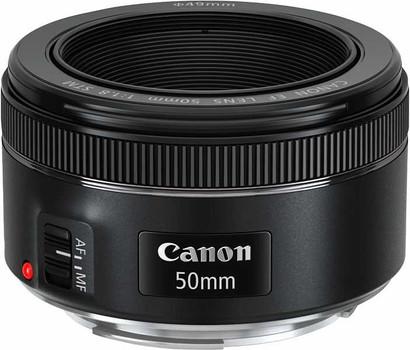 Canon EF 50 mm F1.8 STM 49 mm Obiettivo (compatible con Canon EF) nero
