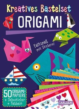 Kreatives Bastelset: Origami: Set mit 50 Faltbögen, Anleitungsbuch und Falzhilfe. Falten für Kinder - Anton Poitier  [Taschenbuch]